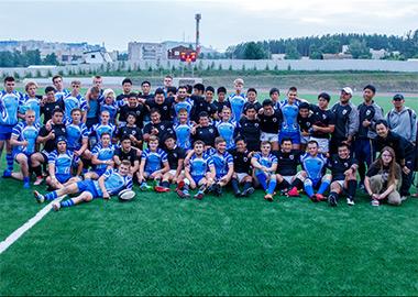 Молодёжные команды Японии и «Енисей-СТМ-2001» по регби. Открытие стадиона